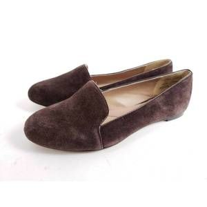 Lands End Brown Suede Smoking Flats Loafers